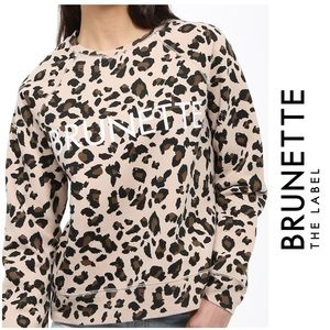 NTW Brunette The Label Cheetah 'Brunette' Sweater